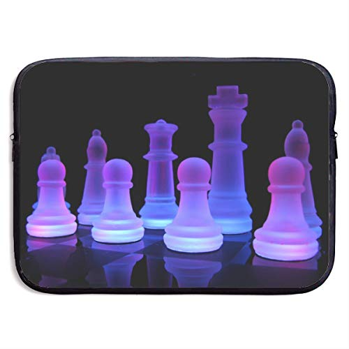 Waterproof Laptop Sleeve 15 Inch, Chess Purple Light Business Briefcase Protective Bag, Computer Case Cover for MacBook Pro, MacBook Air, Asus, Samsung, Sony, Notebook