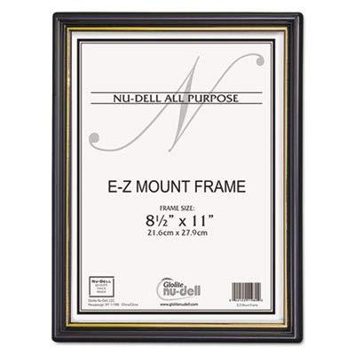 NUD11818 - Nu-dell EZ Mount Document Frame w/Trim Accent