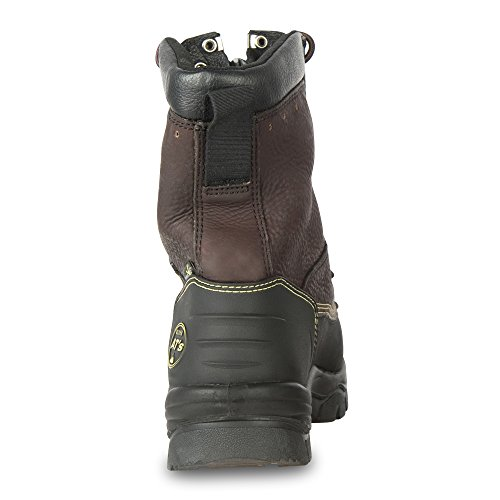 Oliver 65 Series 8'' Leather Chemical-Resistant Steel Toe Lace-In Zipper Men's Metatarsal Boots, Brown (65392) by Honeywell (Image #1)