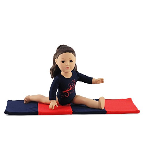 """18 Inch Doll Clothes/Clothing Leotard Outfit with Gymnastics Tumbling Mat l Fits 18"""" American Girl Dolls"""