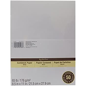 "Cardstock Paper Value Pack, 8.5"" x 11"" in White by Recollections"