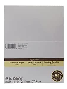 """Cardstock Paper Value Pack, 8.5"""" x 11"""" in White by Recollections"""