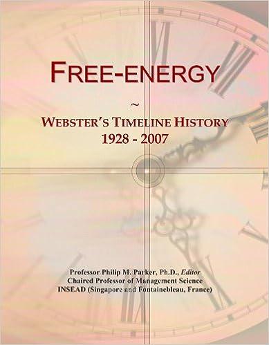 Free-energy: Webster's Timeline History, 1928 - 2007