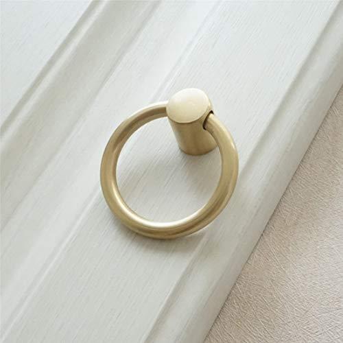 (LBFEEL Gold Brass Konb Drop Ring Pull Handle Drawer Cupboard Pulls Cabinet Knob Door Hardware)