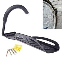 Bicycle Mountain Bike Cycling MTB Outdoor Storage Garage Wall Mounted Mount Hook Rack Holder Hanger Stand Steel Black