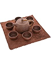 Teapot purple clay teapot zisha Kung Fu Teapot sets, Portable Travel Tea Set,Handmade Kungfu Tea Set,Porcelain Teapot,Teacups,Chinese Yixing Dingshu Genuine purple Sand Tea Pots (400cc/400ml)