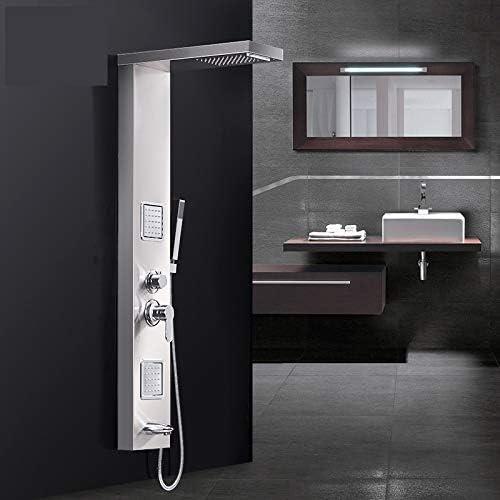 TIMACO Duschpaneel Duschsysteme Duscharmaturen Regendusche Duscharmaturen Set Badewanne Wasserfall-Duschwand aus Edelstahl