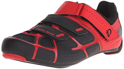Pearl iZUMi Men's Select RD IV Cycling Shoe, Black/True Red, 42 EU/8.5 D US (Bike Red Mens Shoes)