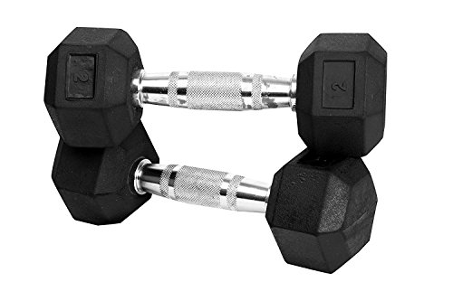 Best Rubber Coated Hex Dumbbells India 2021 with Contoured Chrome Handle 1