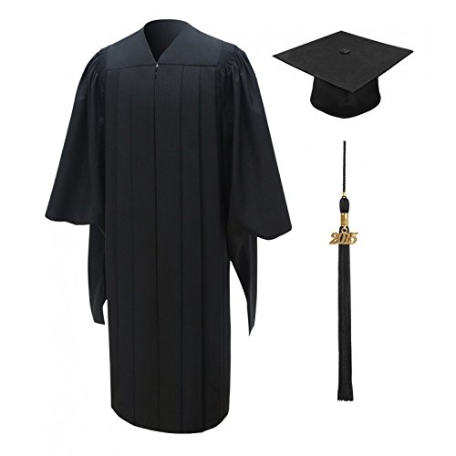 Masters Cap & Gown & Tassel Package - Deluxe Fluted Fabric