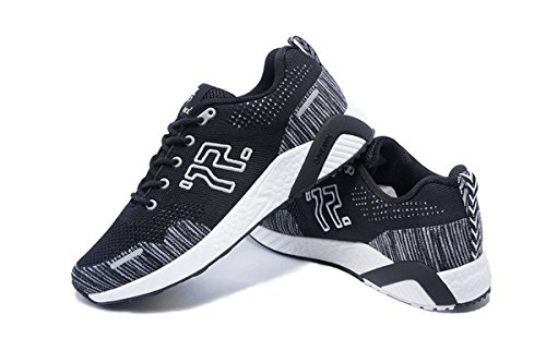 Onemix Mens Breathable Mesh Outdoor Sport Running Shoes Black White JPAYfv