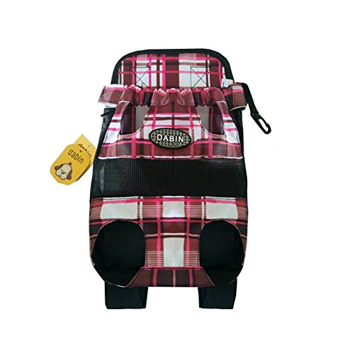 Wesell Lightweight Cute Plaid Legs Out Front Pet Dog Carrier Front Chest Backpack Puppy Tote Holder Bag Sling Outdoor (Carrier Pet Plaid)