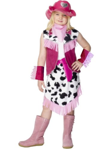 Smiffys Texan Cowgirl Fancy Dress Costume (Small, Pink)
