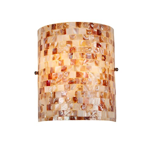 Sconce Mosaic Light (Chloe Lighting CH3CD28CC08-WS1 Moasic SHELLEY, Mosaic 1 Light Wall Sconce, 8.3-Inch,  Multi-colored)