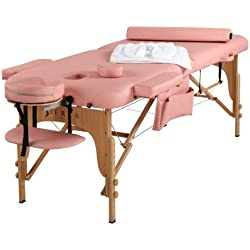 Sierra Comfort All Inclusive Portable Massage Table, Pink