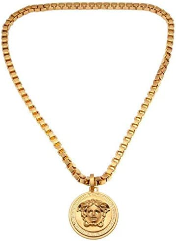 "Medusa""Gentlemen"" Pendant Luxury Necklace - Gold"