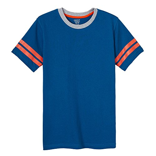 French Toast Boys'  Short Sleeve Ringer Tee, rush of blue, 3T,Toddler Boys