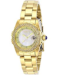 Women's Angel Quartz Watch with Stainless Steel Strap, Gold, 16 (Model: 28444)