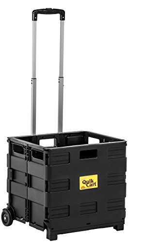 dbest products 01-768 Lightweight Shopping Laundry Travel Portable Mobile Storage Quik Topless Two-Wheeled Collapsible Handcart Rolling Utility Cart Heavy Duty, Without Lid, Black by dbest products