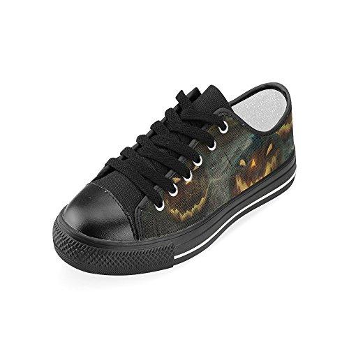 D-histoire Personnalisé Heureux Halloween Citrouille Femmes Classique Toile Chaussures Mode Sneaker Multicoloured11