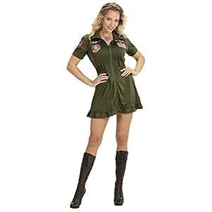 WIDMANN wdm15231?Disfraz de piloto de jet de combate, verde, Small