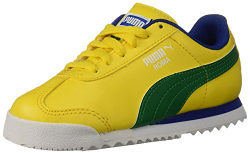 (PUMA Unisex Roma Basic PS Sneaker, Dandelion-Verdant Green, 12 M US Little)