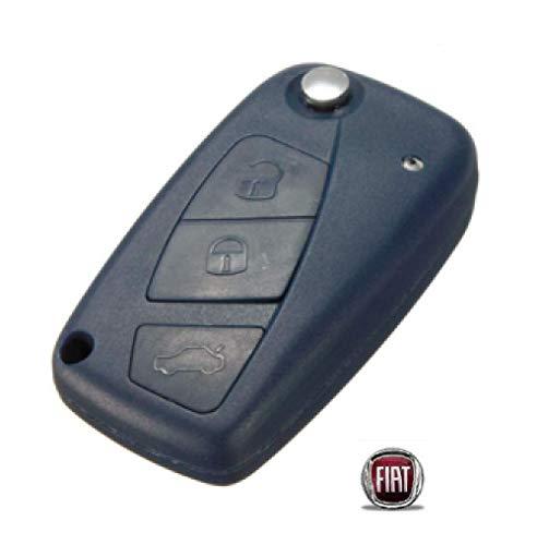 Chave Canivete Fiat Stilo Punto Linea 3 B Lamina Emblem Azul