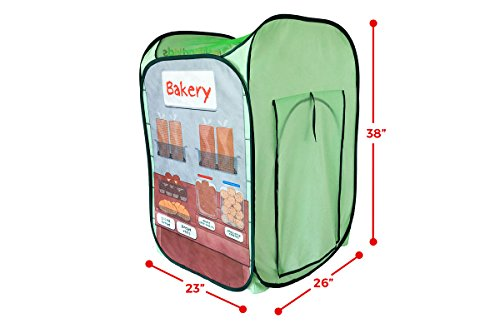26 x 23 x 38 Alvantor Kids Tent Drinks /& Bakery Puppet Theater Kitchen Play-House Grocery Market Pop Great Game and Toy Multicolor