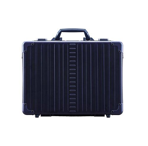 Aleon 17'' Business Attache Aluminum Hardside Business Briefcase (Small, Sapphire) by ALEON