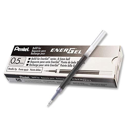 Pentel Refill Ink for EnerGel Liquid Gel Pen, 0.5mm, Needle Tip, Black