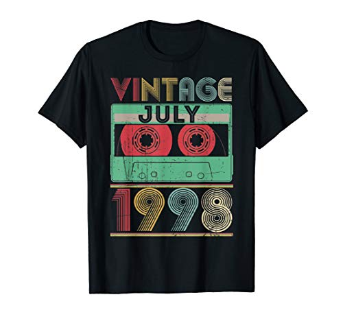 Vintage July 1998 T-Shirt 21st Birthday gift 21 years old