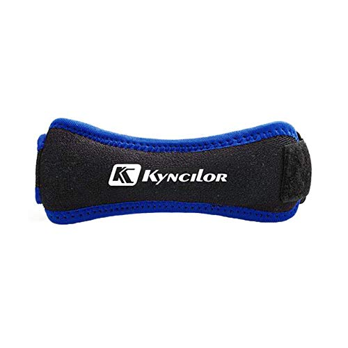 XPuing Knee Strap Kneepad Compression Protective Gear Knee Pads Silicone Patella Band Knee Pain Relief Support (Blue)