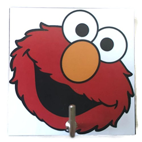 Paper Bag Mask Costume - Agility Bathroom Wall Hanger Hat Bag Key Adhesive Wood Hook Vintage Elmo's Photo