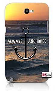 Always Anchored Ocean Sunset Beach Anchor Apple Iphone 5c Quality TPU Soft Rubber Case for Iphone 5c - AT&T Sprint Verizon - White Case