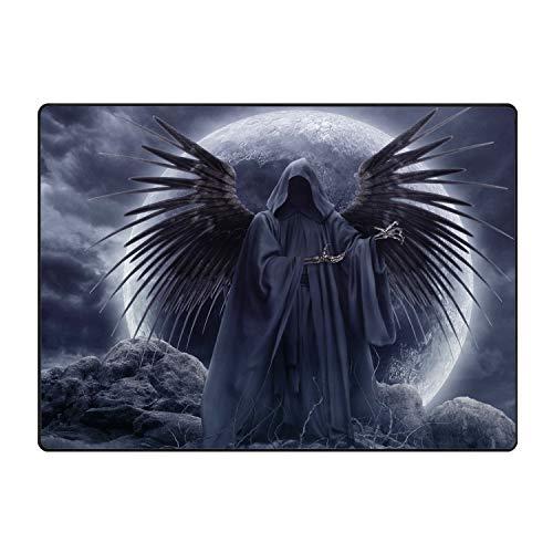 Starfactr Welcome Mat Clouds Wings Grim Reaper Moon Gothic Decorative Floor Mat Kitchen,Bathroom Doormat]()