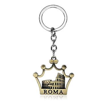Dongsheng moda llavero romano Coliseo romano llavero Roma ...