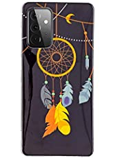 Miagon Luminous Effect Back Case Cover for Samsung Galaxy A72,Noctilucent Glow in the Dark Green Soft Slim TPU Gel Flexible Bumper,Feather Chimes