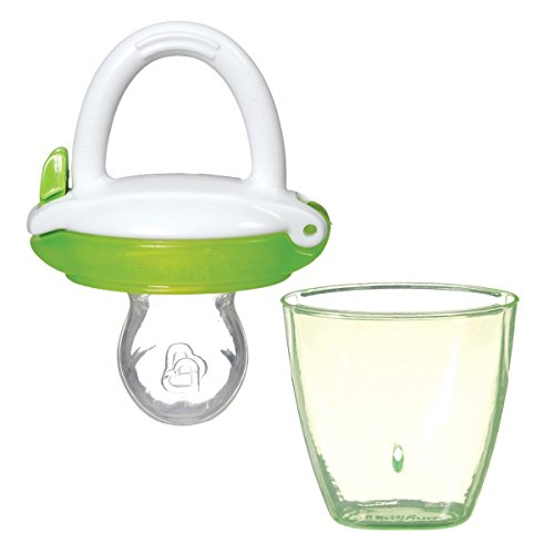 Munchkin Silicone Baby Food Feeder - •Specifically Designed for Babies 4+ Months, Trying Pureed Foods for the First Time (Green)
