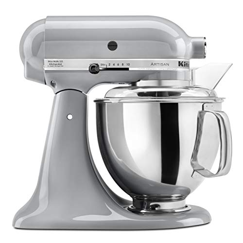 KitchenAid KSM150PSMC Artisan Series 5-Qt. Stand Mixer with Pouring Shield - Metallic Chrome (Kitchenaid Professional 5 Plus Silver Series Stand Mixer)