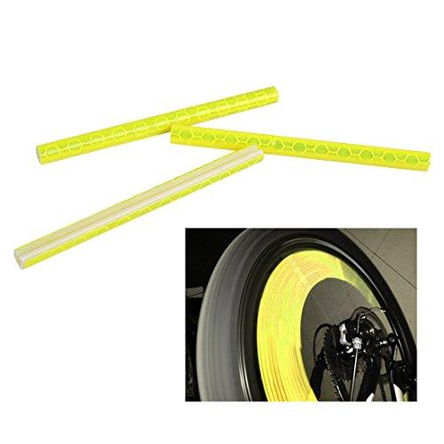 12pcs Bicycle Wheel Reflective Warning Strip (yellow) - 8
