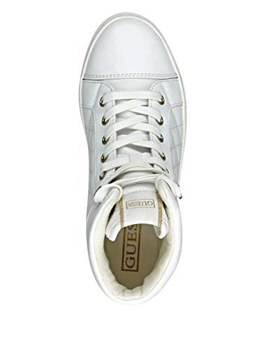 GUESS Womens Janis4 Sneaker White Multi Leather 2pIcBWR