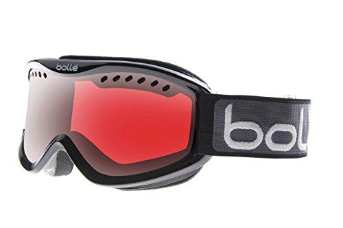 (Bolle 20786 Carve Snow Goggles (Black Frame/Vermillon Gun Lens))