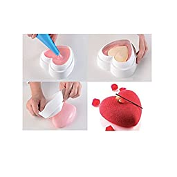 Kitamp 1PCS Valentine Heart Design Fondant Mousse Cake Mold for Brownie Breads Brownie Custard Cake Decoration Tools
