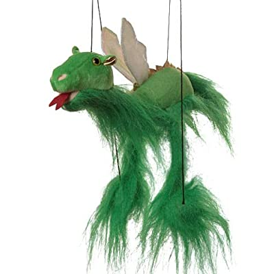 Sunny Puppets Magical Dragon (Green) Small Marionette: Toys & Games