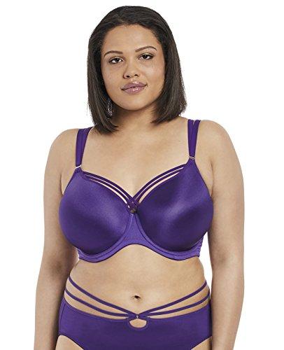 Elomi Women's Plus-Size Bijou Flirt Underwire Molded Strappy Bra with J-Hook Bra, Purple, 34GG
