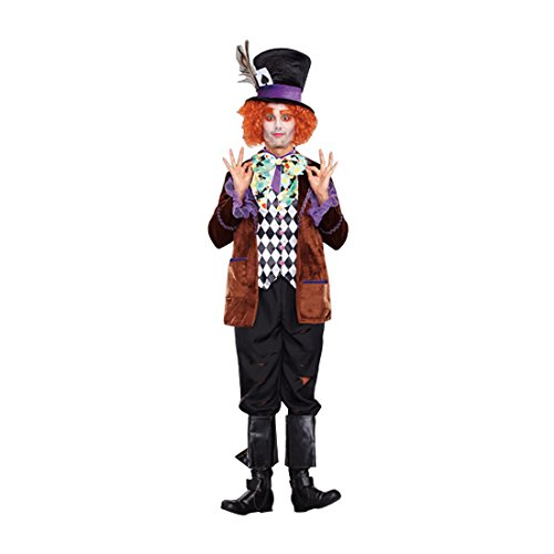 The Mad Hatter Costume (Dreamgirl Men's Hatter Madness Costume, Multi, Medium)