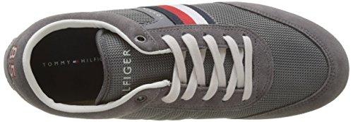 Steel 039 Grey Basse Mix Material Uomo Hilfiger Grigio Tommy Runner Ginnastica Corporate da Scarpe 8xP7O