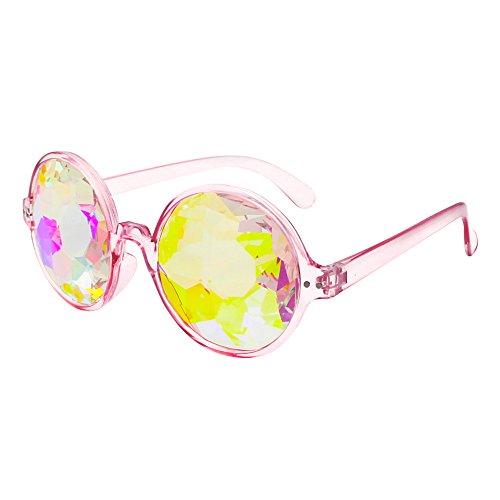 BVAGSS Kaleidoscope Glasses Rainbow Prism Sunglasses For Music Festivals LED Light shows EDM WS064 - Sunglasses Edm