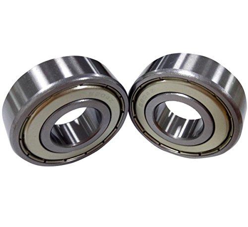 - Antrader 4 Pcs Metal Shielded 6204Z 20 x 47 x 14mm Deep Groove Ball Bearings Silver Tone
