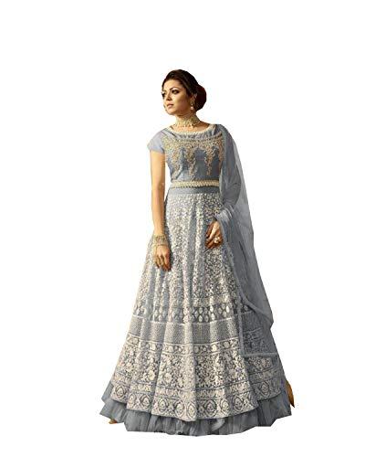 (Indian Wear Anarkali Suit Party Wear Zoya 3 (Grey, S-38))